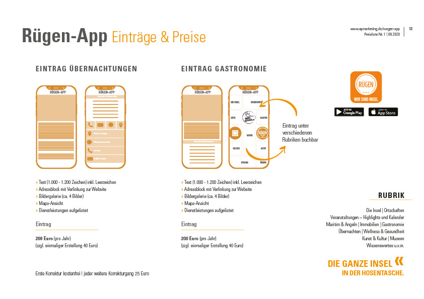 Mediadaten ruegen app apmarketing | ap Marketing